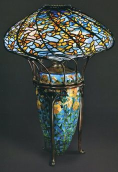 Butterfly Lamp, by 1899, designed by Clara Driscoll. Photo: Colin Cooke. The Lamps of Louis Comfort Tiffany, by Martin Eidelberg, et al.