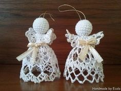 Handmade by Ecola & Dana Art - Aniołki 2015 Beach Cottage Style, Crochet Earrings, Christmas, Handmade, Diy, Saints, Crocheting, Xmas, Hand Made