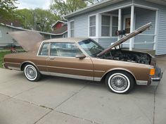 1986 Chevrolet Caprice 2 door Landau Sport Coupe in Dark Chestnut. 30,000 miles. With the demise of the Impala (for the time being) in 1985, the Caprice was the sole large car offering in '86. Updates included a freshened front and rear end.