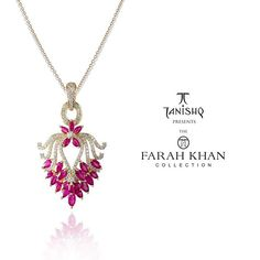 Do check out our floral Ruby diamond pendant from #thefarahkhancollection for #Tanishq #tanishqxfarahkhan @tanishqjewellery . Available in 40 select Tanishq stores in 23 cities of India.
