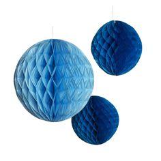 Pappersdekor Honeycombs blå