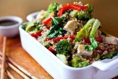 Frito Mexendo Quinoa com vegetais e Tofu