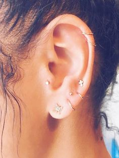 Constellation Piercings Are The Cooler Way To Wear Statement Jewelry via @WhoWhatWear
