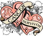 Uterine Cancer Survivor Double Heart Shirts