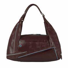 Piquadro Blue Square Tasche Rucksack Portabilität mahogany