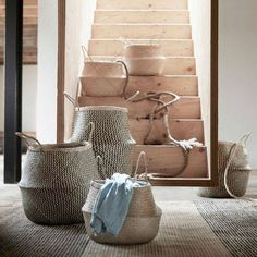 stairs and baskets