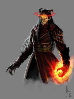 drag to resize or shift+drag to move Fantasy Art Angels, Fantasy Demon, Fantasy Star, Fantasy Heroes, Tiefling Paladin, Tiefling Sorcerer, Character Concept, Character Art, Character Design