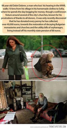 This old abandoned man is a true hero… didn't know where to pin this.