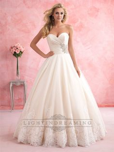 Gorgeous+Strapless+Sweetheart+A-line+Wedding+Dress