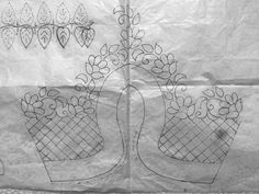 Discover recipes, home ideas, style inspiration and other ideas to try. Hand Embroidery Design Patterns, Simple Embroidery Designs, Hand Embroidery Videos, Cutwork Embroidery, Hand Work Embroidery, Creative Embroidery, Embroidery Stitches, Paisley Stencil, Cutwork Blouse Designs