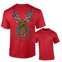 Short Sleeve Christmas Deer by Ashton Brye™   underthecarolinamoon.com