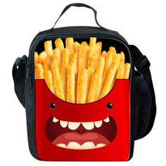 2016 Funny French Fries Design Kids Purple School Bags Children Bags for School,Fashion Kids School Book Bags Mochila sac a main Small School Bags, Cheap School Bags, Messenger Bags For School, Backpack For Teens, Thermal Lunch Box, Reusable Lunch Bags, Funny French, Girl Emoji, Boys Backpacks