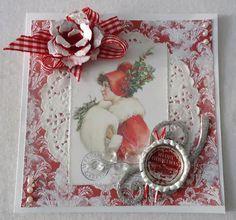 Kort og andet godt: Rødt og hvidt julekort
