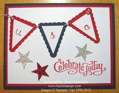 Patriotic 4th of July Card