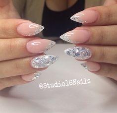 Foil Nail Art, Foil Nails, Manicure Nail Designs, Nail Art Designs, Cute Nails, Pretty Nails, Korean Nail Art, Gel Nails French, Swarovski Nails