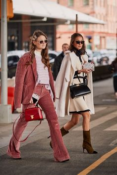 Pink Suit Street Style