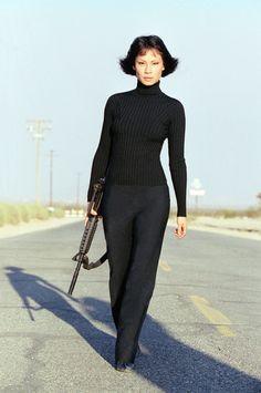 thotlord: Lucy Liu on the set of Kill Bill Vol. Quentin Tarantino, Tarantino Films, Lucy Liu Kill Bill, Kill Bill Vol 1, Gi Joe, Ally Mcbeal, Requiem For A Dream, Film Review, Mode Vintage