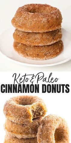 keto dessert Low Carb Donuts Recipe - Almond Flour Keto Donuts (Paleo, Gluten Free) - This low carb donuts recipe with almond flour is easy to make. These keto donuts taste just like regular sugar coated ones, with options for paleo donuts, too! Low Carb Donut, Paleo Donut, Keto Donuts, Low Carb Keto, Low Carb Recipes, Gluten Free Recipes Videos, Protein Donuts, Bread Recipes, Vegan Donut Recipe