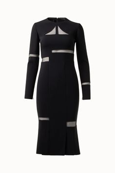 Akris® Official – Double Face Wool Dress with Cubist Cutouts Wool Dress, Perfect Match, Stylists, Fall Winter, Tulle, Dresses For Work, Silhouette, Silk, Elegant