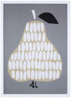 """Pear Print"" by Tonje Holand And Ingrid Reithaug, available at Serena & Lily. #serenaandlily"