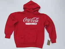 Coca-Cola Red Collegiate 1886 Sweatshirt w / Hoodie - Medium - NEW
