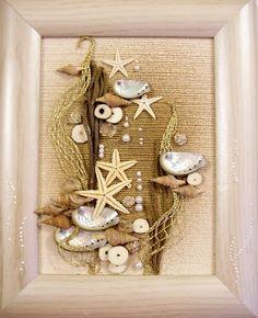 Ручная работа: Коллажи флористические Sea Crafts, Diy And Crafts, Arts And Crafts, Seashell Art, Seashell Crafts, Shell Decorations, Diy Home Accessories, Shell Ornaments, Diy Wall Art