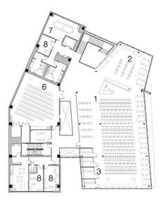 District of Columbia Public Library,Second Floor Plan