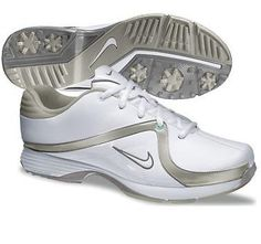 big sale c47d5 b536c Nike Golf Ladies Lunar Brassie Golf Shoes 2013 - WhiteWhite - Metallic  Pewter - Granite