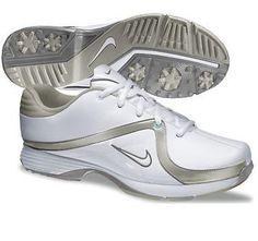 Nike Golf Ladies Lunar Brassie Golf Shoes 2013 - White/White - Metallic Pewter - Granite