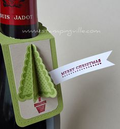 Christmas Craft Ideas - Wine Bottle Gift Tags