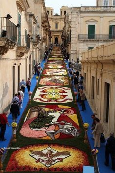 """The Infiorata Flower Carpets Festival"", Sicily, Every year-3rd Sunday of May! #BnBGenius #lifeisajourney by Joao.Almeida.d.Eca"