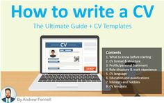 """A well-overlong article on """"How to write a CV"""". There are some useful tips in there, so it's worth a scan-read at least. There is a very chunky info-graphic also."""