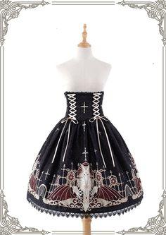 Grove Deer [The Lost Continent - Pardminenan] High Waist Lolita Skirt