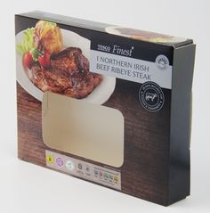 Ribeye steak sleeve created by Priory Press Packaging. www.priorypresspackaging.co.uk