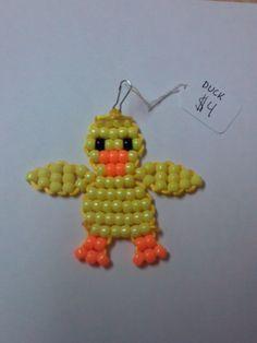 Duck Bead Keychain by BeadPets