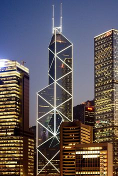 This tower houses the Bank of China Hong Kong HQ,