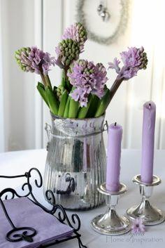 Purple Spring - Home & Inspiration Color Lavanda, Vibeke Design, Lavender Cottage, Lilac Flowers, All Things Purple, Spring Home, Spring Air, Happy Spring, Decoration Table