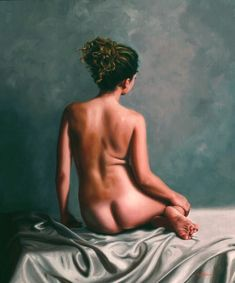 Available for sale from Gallery at Zhou B Art Center, Vicki Sullivan, Back Study of Brianna Oil on linen, 75 × 62 cm The Birth Of Venus, Canadian Models, Art Calendar, Painting Workshop, Australian Artists, Nude Photography, Rose, Female Art, Art Gallery