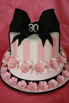 Pretty In Pink 30th birthday cake