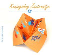 geld verdienen koningsdag, zoutvaatje koningsdag, origami, zoutvaatje vouwen