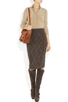 WIshing the knit on the skirt was a finer weave but ADORE the boots