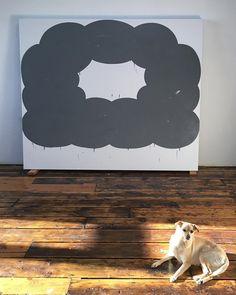 "Amy Feldman studio, Low Omen, 2015, acrylic on canvas, 79"" x 95"" #amyfeldman"