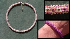 Beading4perfectionists : Necklace done with Chenille stitch beading tuto...