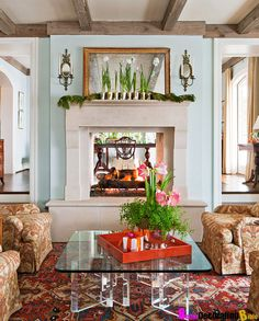 .See-through fireplace