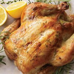 Here is my personal tried and true recipe for the perfect roasted chicken. Crisp skin and moist succulent meat! I have one roasting in the oven right now as it's a great thing to make on this cold wintery day. The aroma is wonderful! Tomorrow the left-overs will become chicken soup: )