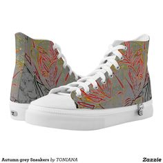Shop Reddish brown pine straw needles photo High-Top sneakers created by DesignsbyAngi. Grey Sneakers, Custom Sneakers, High Top Sneakers, Plaid Fashion, Reddish Brown, Fashion Prints, On Shoes, Converse Chuck Taylor, Tweed