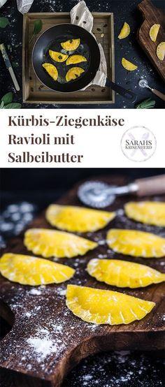 Kürbis-Ziegenkäse-Ravioli mit Salbeibutter