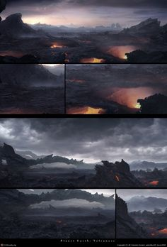 Planet earth: volcanoes matte-paintings by Lubos de Gerardo Surzin | 2D | CGSociety