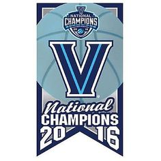 Villanova Wildcats Lapel Pin 2016 NCAA Men's Basketball Champions Banner Design