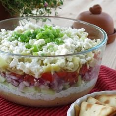 Greek Dip with 7+ Layers and lots of ideas to stack even higher #glutenfree #lowcarb #easyentertaining